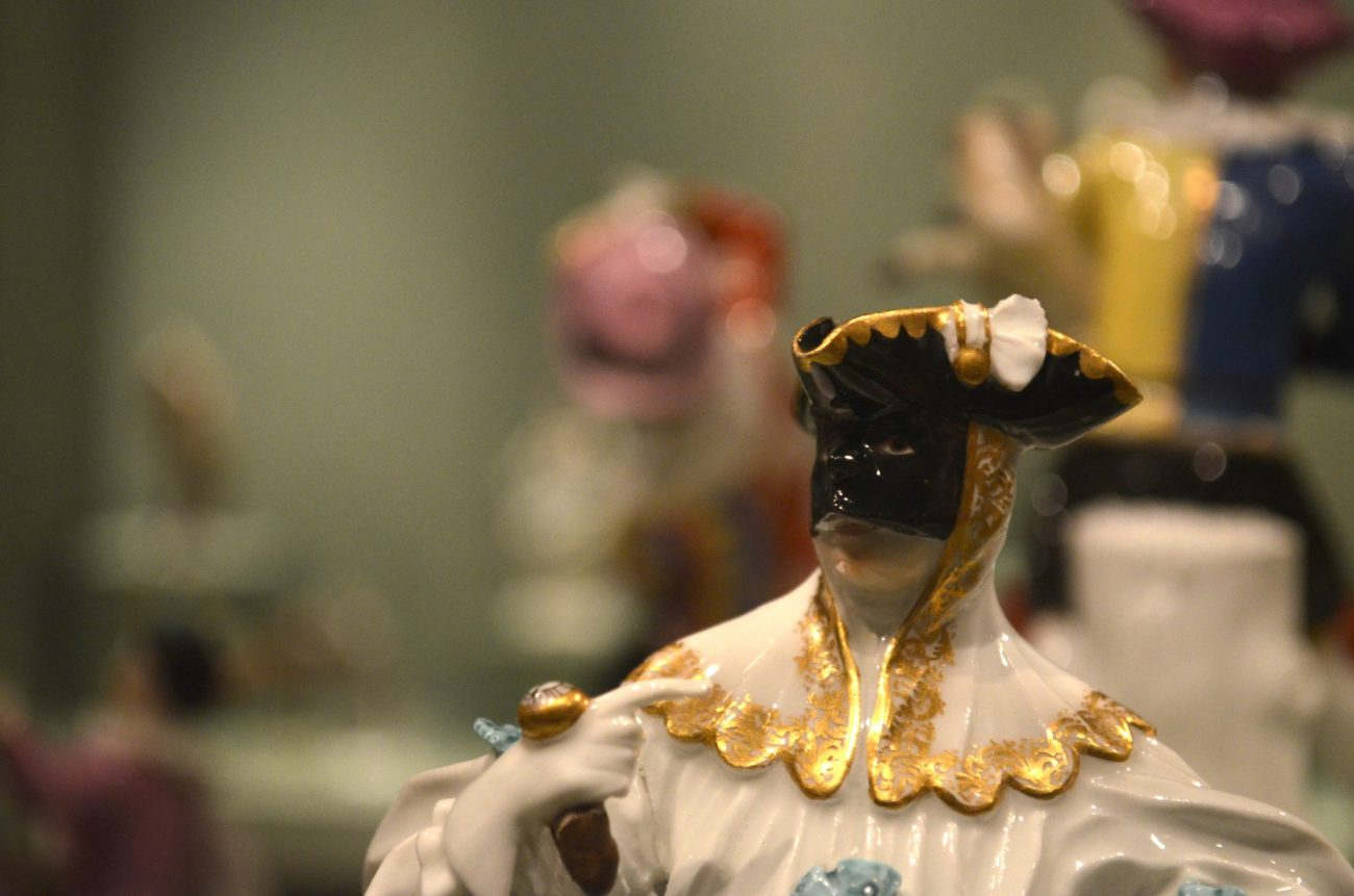 Masked Porcelain Figure at The Metropolitan Museum of Art in New York City