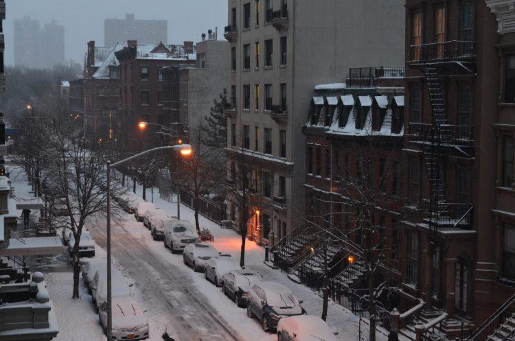 Snowy Central Harlem Street