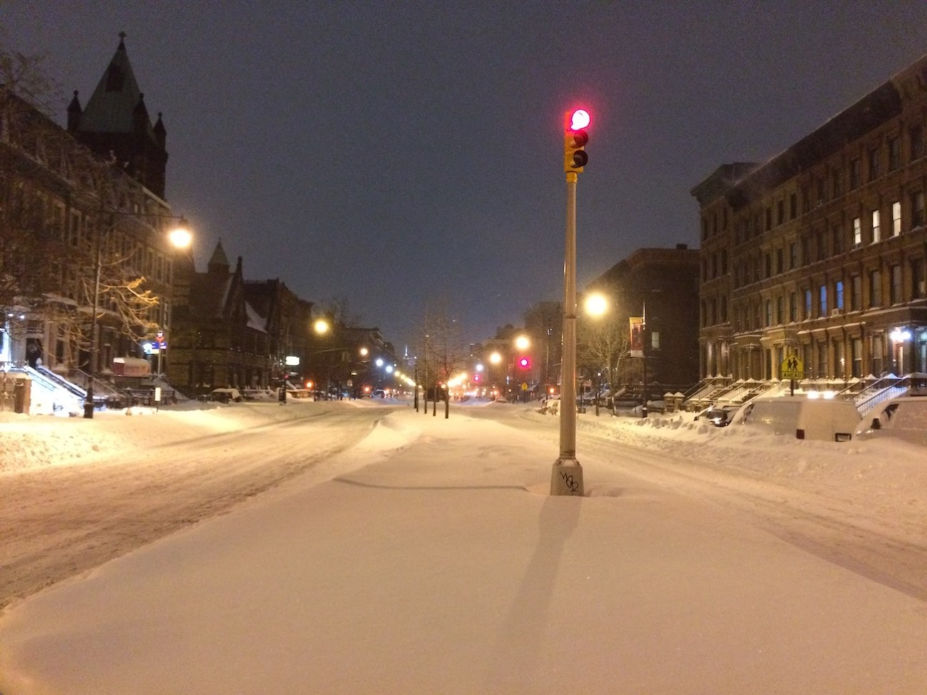 Empty Harlem Street