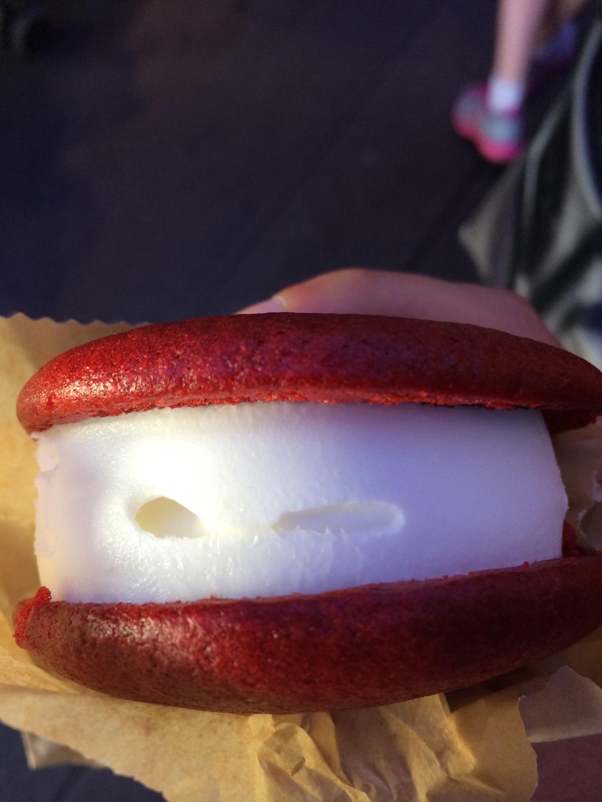 Red Velvet Ice Cream Cookie