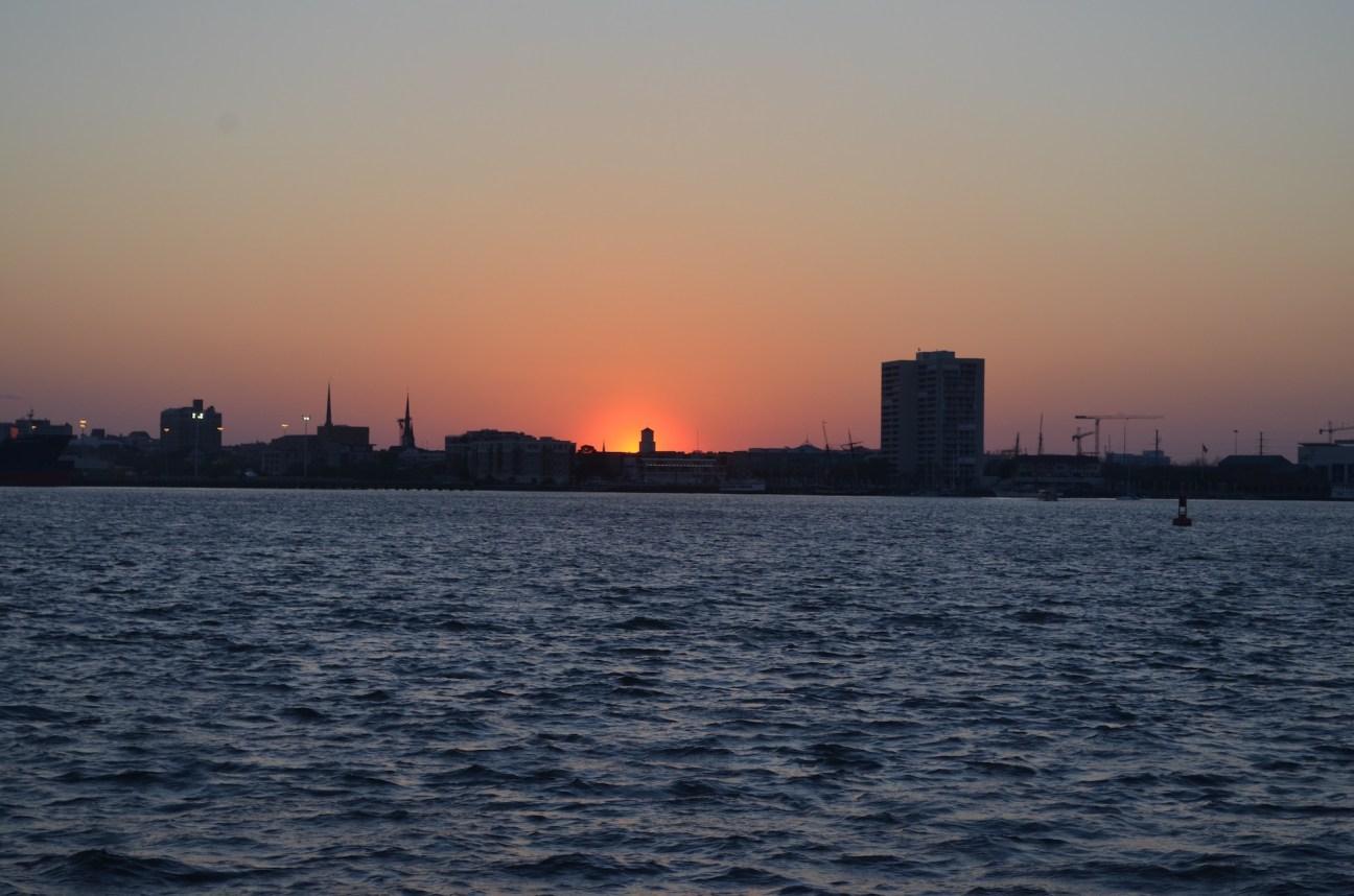Sunset Over the Charleston River