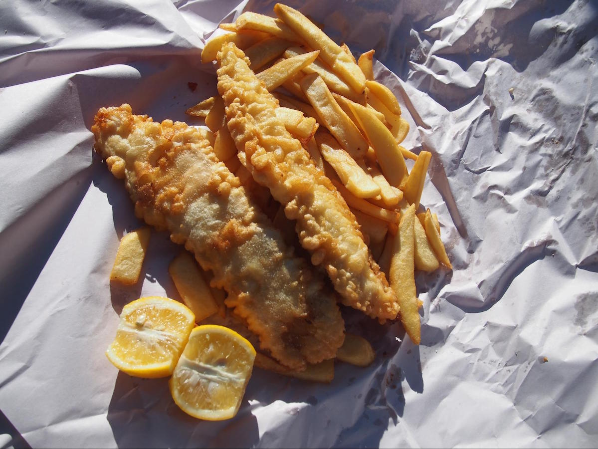 Akaroa's famous Fish and Chips