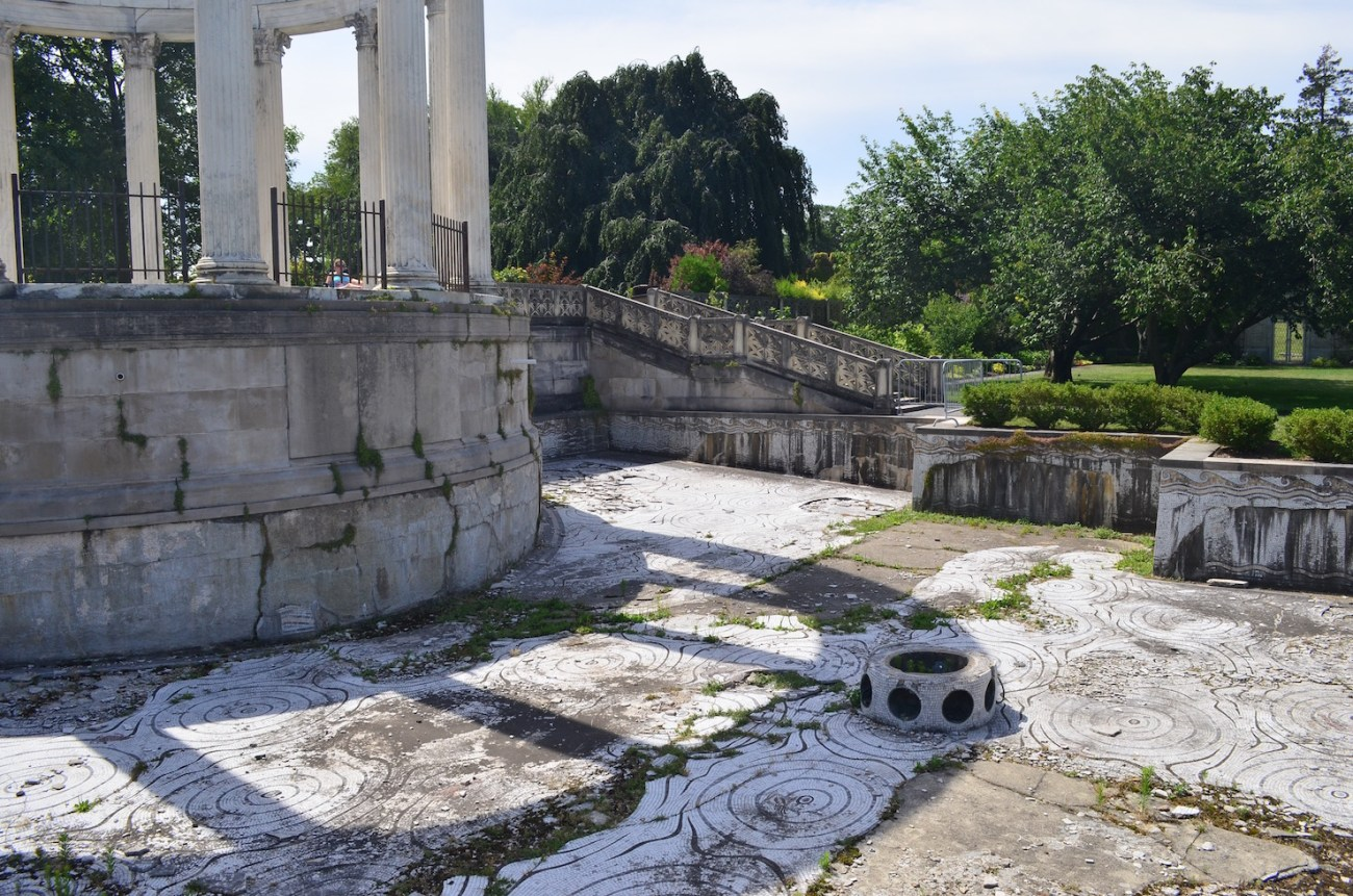 Empty Tiled Pool at Untermyer