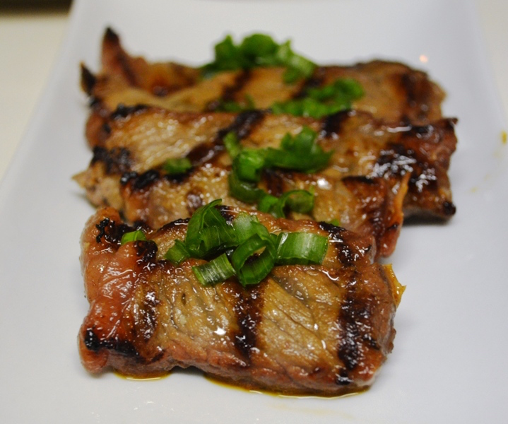 Ponzu and Italian Hot Pepper Marinated New York Strip Steak