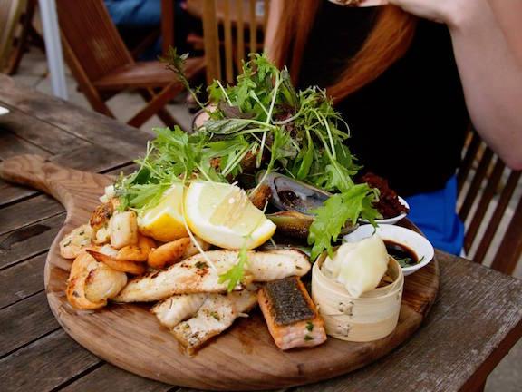 The Trading Room's Fruits de Mer seafood platter