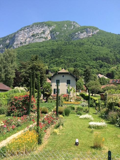 Backyard in Annecy France