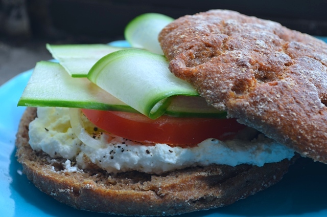Finnish Ruis Bread Vegetarian Sandwich