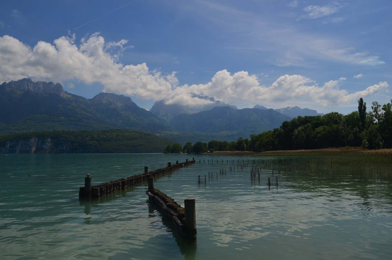 Lake Annecy in Savoy Region of France