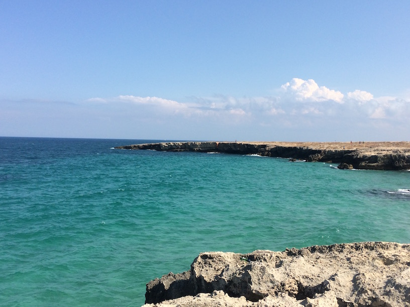 Adriatic Sea in Monopoli Italy