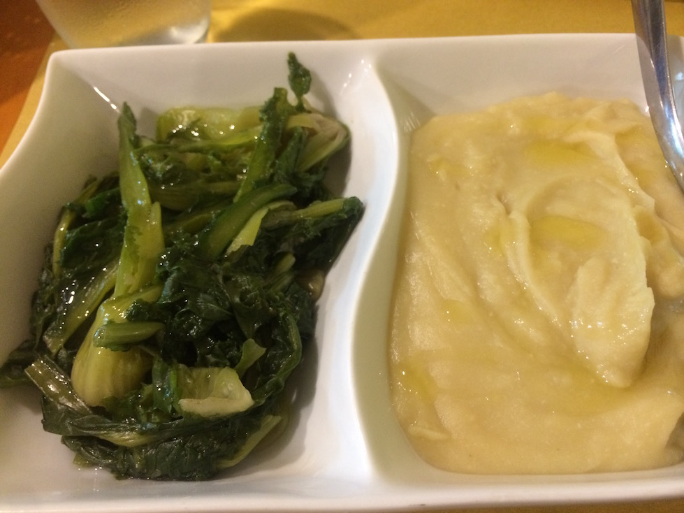 Chicory and White Bean Puree in Lecce Italy