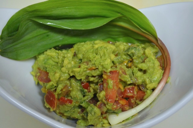 Guacamole with Wild Leeks also called Ramps