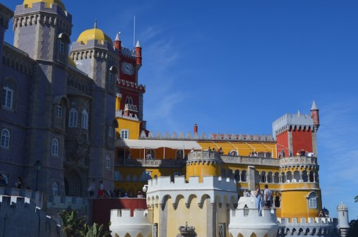 Pena Palace Outside of Lisbon in Sintra Portugal