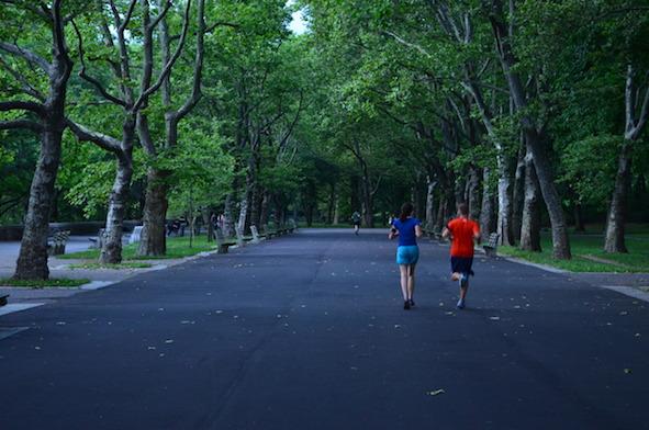 Running in Riverside Park