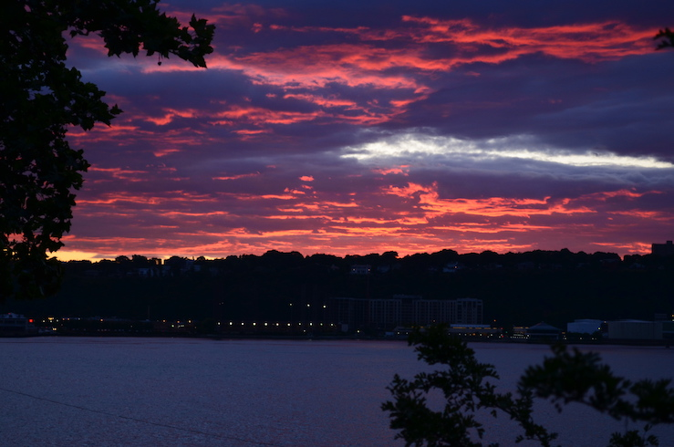 Summer Sunset Over New Jersey