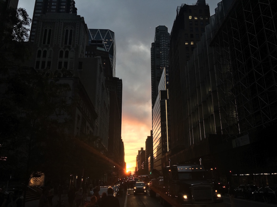 Sunset During Manhattanhenge