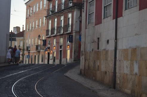 Winding Street in Alfalma Lisbon