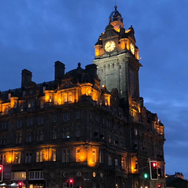 Evening in Edinburgh Scotland