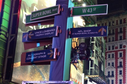 Super Bowl Boulevard in Times Square