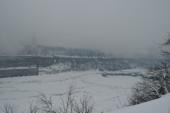 February is cold in Niagara Falls