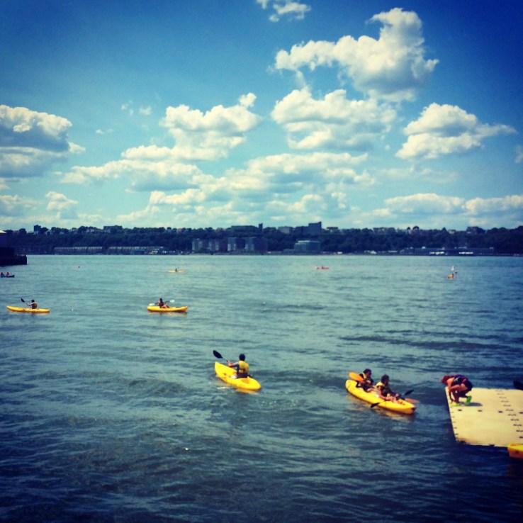 Free Kayaking in the Hudson River