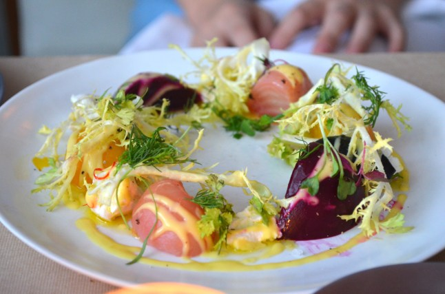 Roasted Beet Appetizer at Perry St.