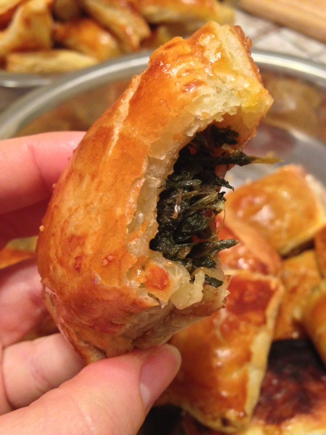 Spinach Filled Russian Style Piroshki