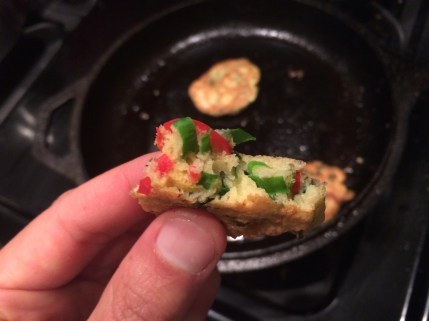 Ramp and Red Chili Pepper Fritter