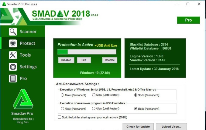 Smadav Antivirus 2018 Rev 12.3 + Crack Free Download