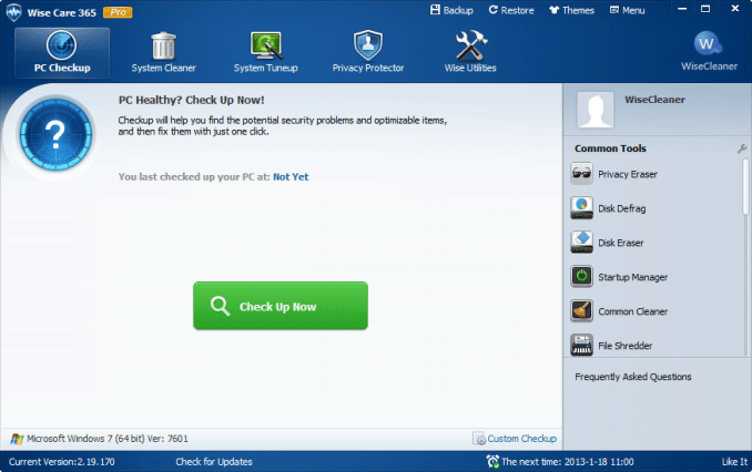 Wise Care 365 5.2.3 Build 518 Serial Key Crack Free Download