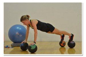 bosu balance 4 ball med challenge