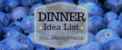 Dinner List Header