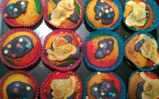Gluten free Rainbow Fairy Cakes