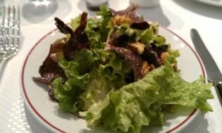Walnut salad with a mustard dressing.
