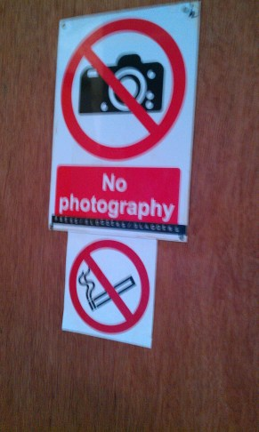 'No photography/press/bloggers/blaggers'