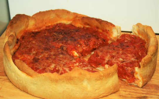 Chicago Style Deep Pan Pepperoni Pizza