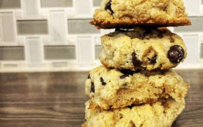 Chewy Chocolate Chip Cookies {Gluten-Free, Paleo, Refined Sugar Free, High Protein}