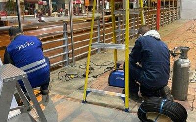 Labores de mantenimiento a la infraestructura del MIO