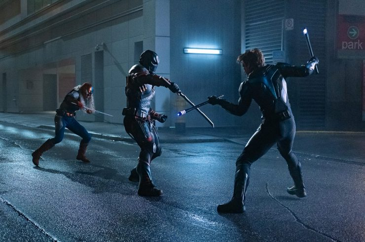 Nightwing Review Image - Ravager, Deathstroke and Nightwing