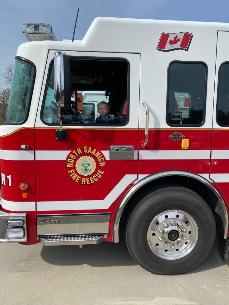 james in firetruck