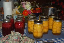 raspberry juice & peaches