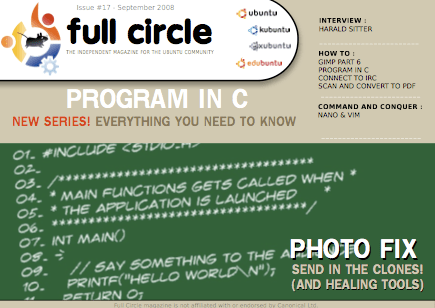 Full Circle Magazine 17th Edition