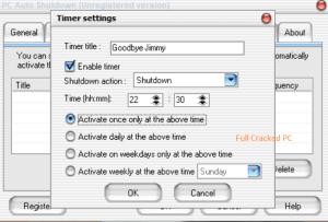 PC Auto Shutdown 7.1 Crack + License Key Download 2021