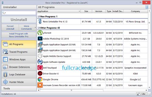 Revo Uninstaller Pro 4.4.5 Crack + License Key Free Download 2021
