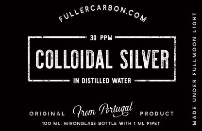 colloidal silver label 30ppm