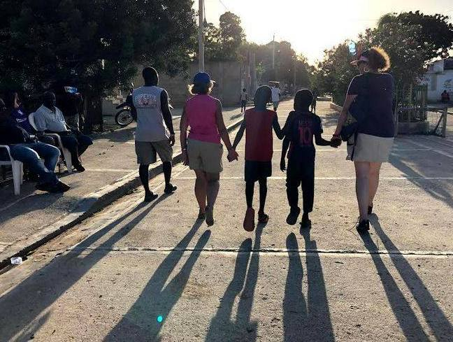 With children in Haiti