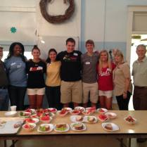 Photo: Our group from University of Cincinnati helped serve lunch at Lazarus Table for Grand Avenue Temple. They spent a week working at the Olive St project in Summer of 2016.