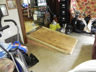 Photo: A ramp constructed from the house into the garage for Ms. Goatley