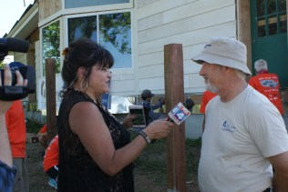 Kathy Quinn from Fox 4 News interviewing Randall Smith of the FCH Board