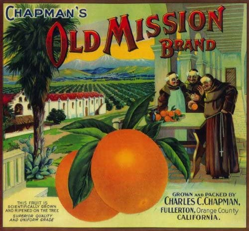 Chapman's Old Mission Brand label
