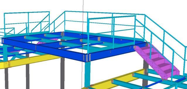 Detalhe terceiro andar - Modelo 3D